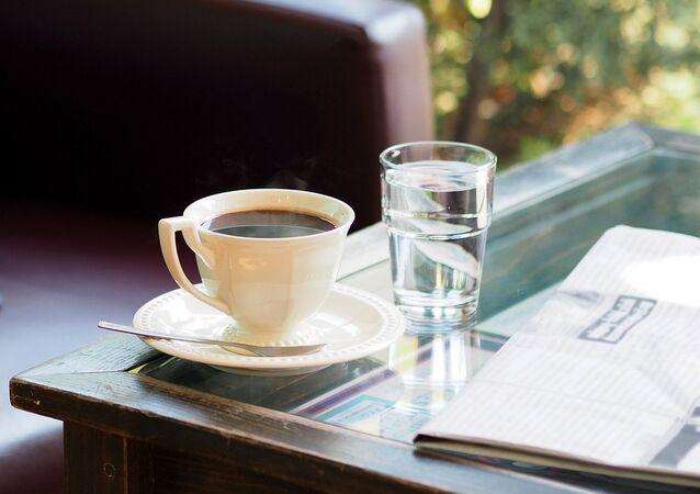 Une tasse de café