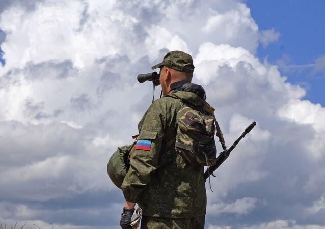Membre d'une milice populaire de la république de Lougansk