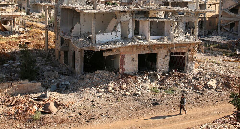 Une maison détruite en Syrie