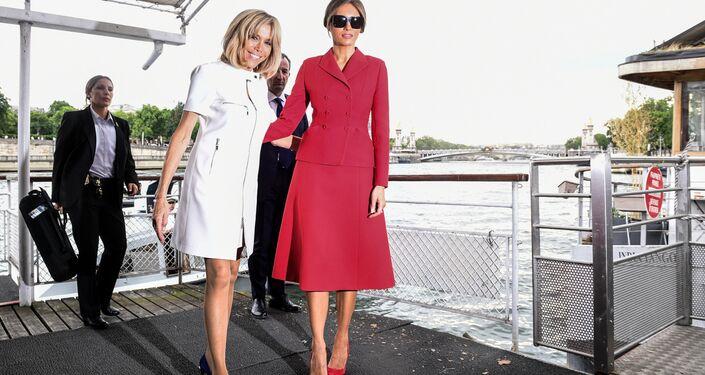Brigitte Macron et Melania Trump à Paris