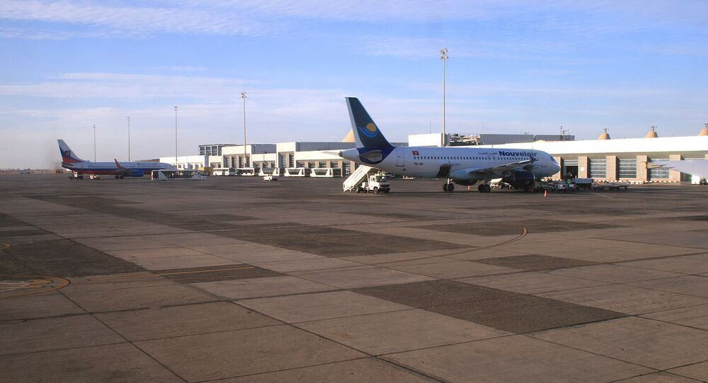 Part of International airport in Hurghada, Egypt