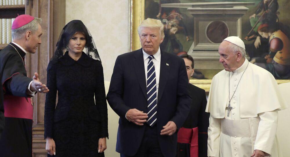 Pape François, Donald Trump et Melania Trump