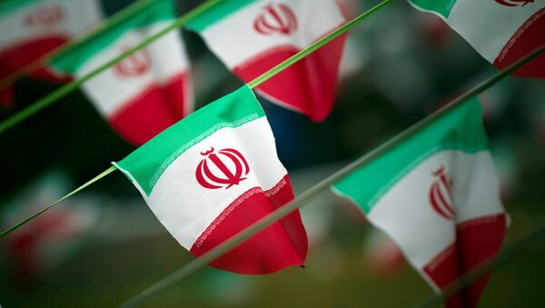 Iran's national flags are seen on a square in Tehran, Iran February 10, 2012 - Sputnik France