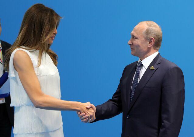 Melania Trump et Poutine, archives