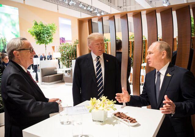 Vladimir Poutine et Donald Trump lors du sommet de Hambourg