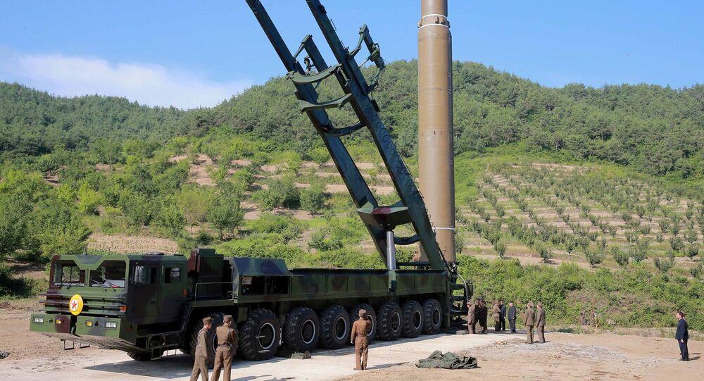 Un missile balistique intercontinental nord-coréen Hwasong-14