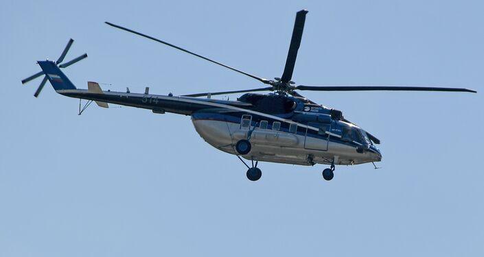 Un hélicoptère Mi-171 lors de l'ouverture du salon MAKS-2017