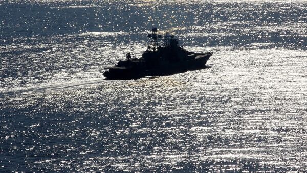 Тяжелый атомный ракетный крейсер Петр Великий в Средиземном море - Sputnik France