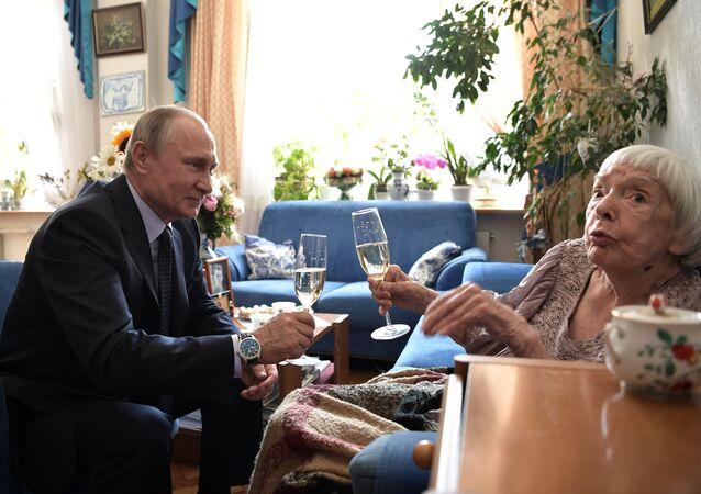 Vladimir Poutine et Lioudmila Alexeïeva