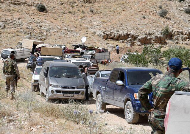 Combattants du Hezbollah dans la région d'Ersal, à la frontière libano-syrienne