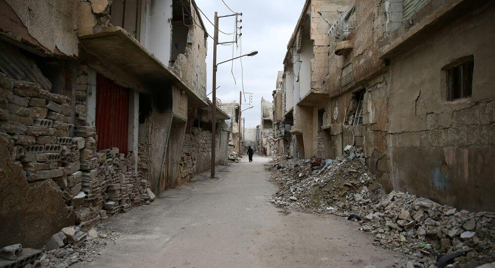 Des maisons endommagées en Syrie
