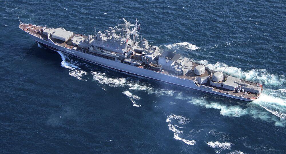 Un navire de combat russe