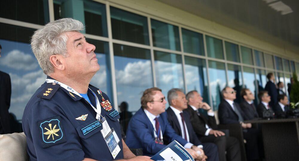 Le commandant en chef de l'Armée de l'air russe, Viktor Bondarev au MAKS 2017