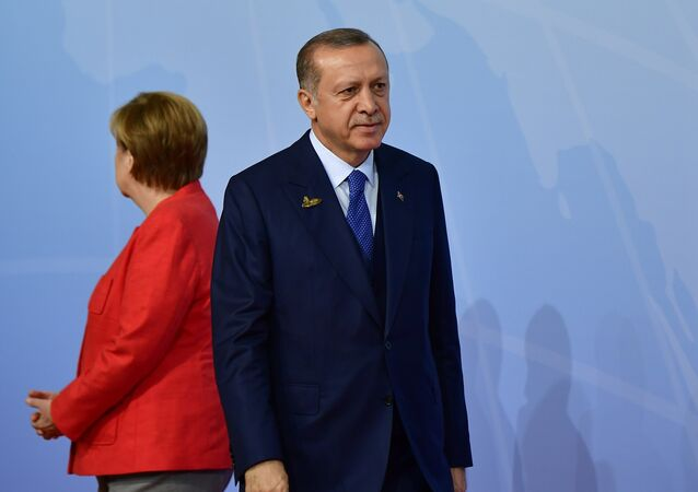 Angela Merkel et Recep Tayyip Erdogan. Archive photo