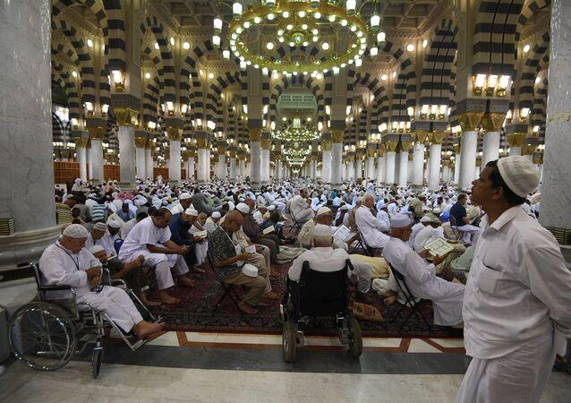 Des pèlerins à la Mecque