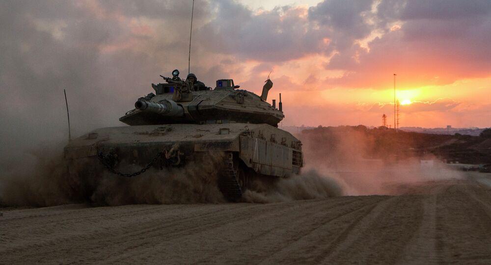 Un char israélien de retour de la bande de Gaza, image d'illustration