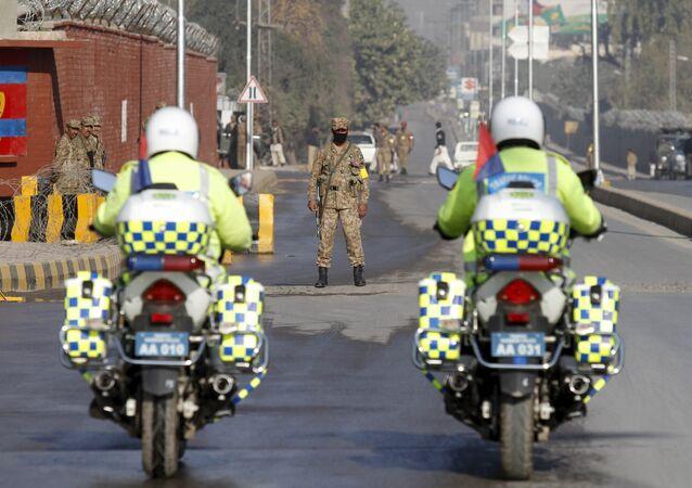 La police au Pakistan. Archive photo