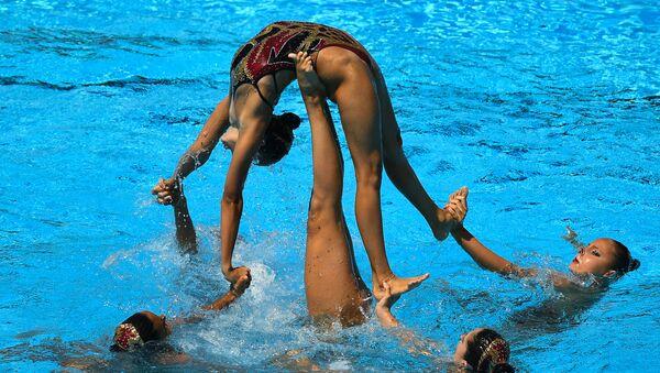 Les meilleures images du Championnat du monde de nage synchronisée à Budapest - Sputnik France