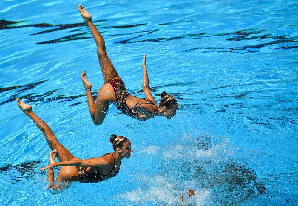 Les meilleures images du Championnat du monde de nage synchronisée à Budapest
