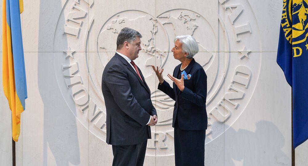 Poroshenko et Christine Lagarde