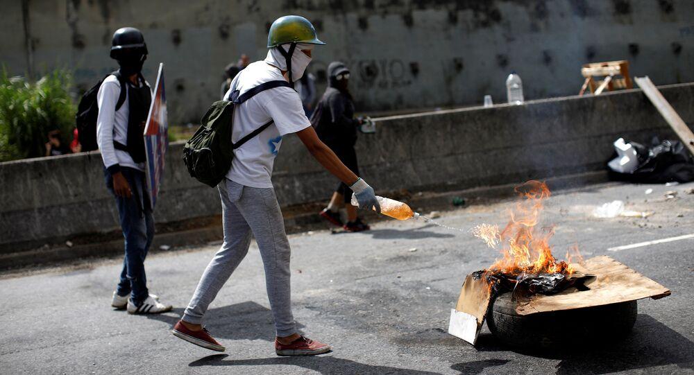Protestations au Venezuela