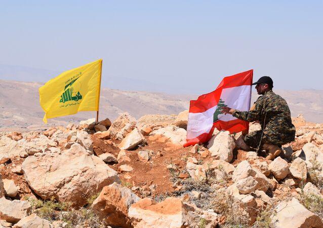 Drapeaux libanais et du Hezbollah, image d'illustration