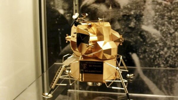 This image provided by Armstrong Air and Space Museum shows a lunar module replica at Armstrong Air and Space Museum in Wapakoneta, Ohio. - Sputnik France