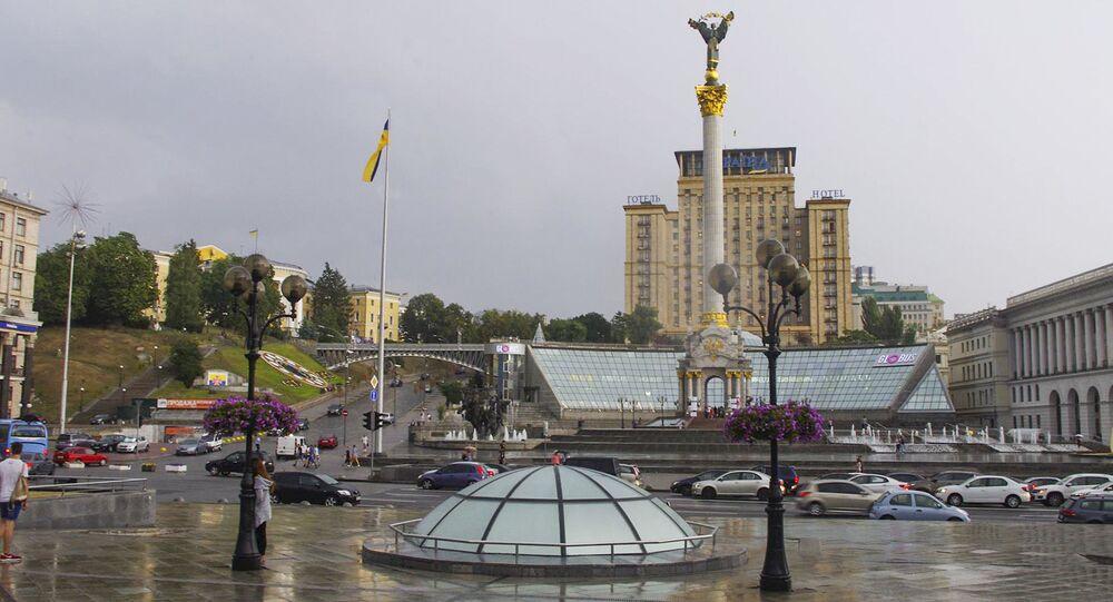 La place de l'Indépendance (maïdan) à Kiev
