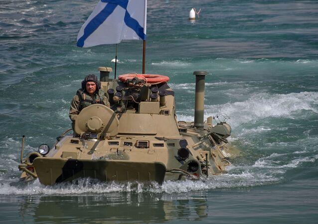 Répétition générale du défilé naval à Sébastopol