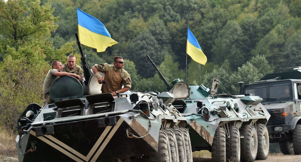 Un convoi militaire ukrainien. Archive photo