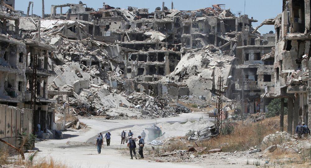 Un quartier de Homs, en Syrie