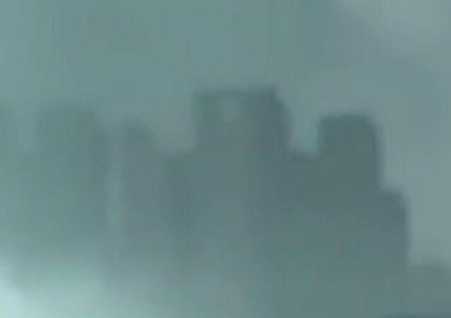 Fata Morgana: une ville erre sur les nuages en Chine