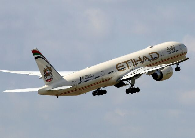 Un Boeing 777-3FX d'Etihad Airways