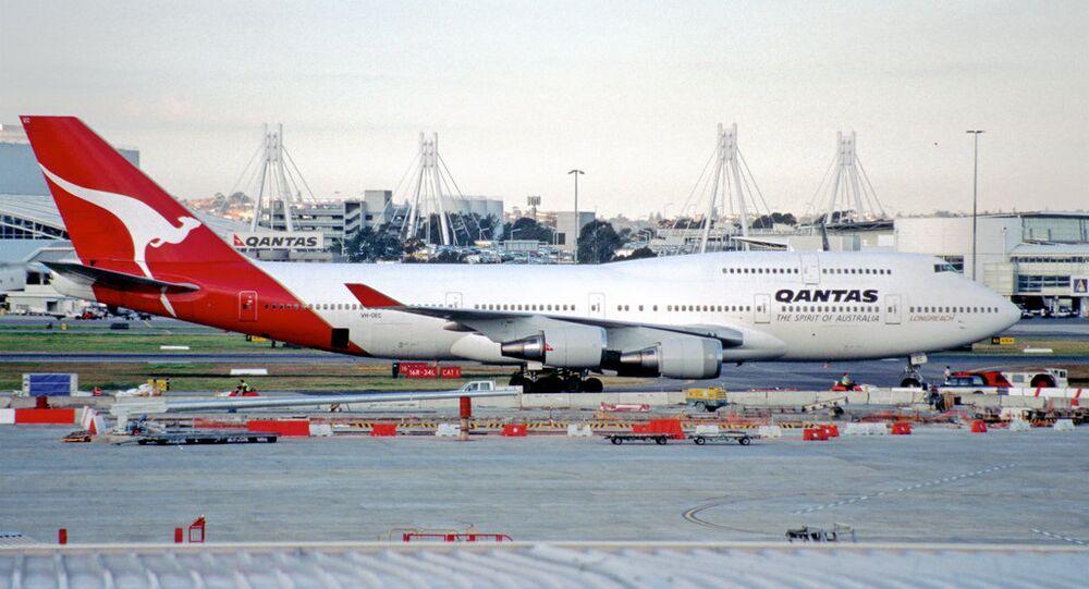 Un avion de la compagnie aérienne Qantas