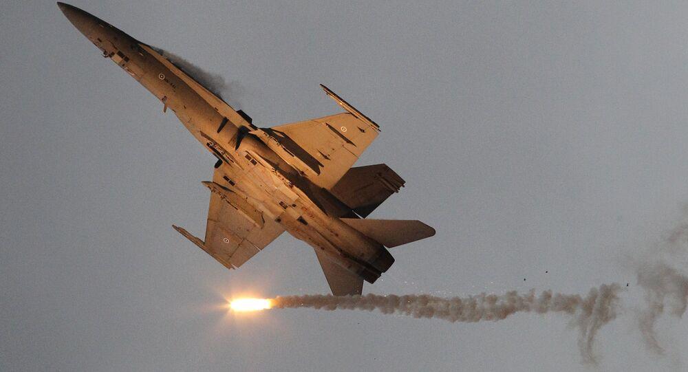 Un F-18 Hornet finlandais