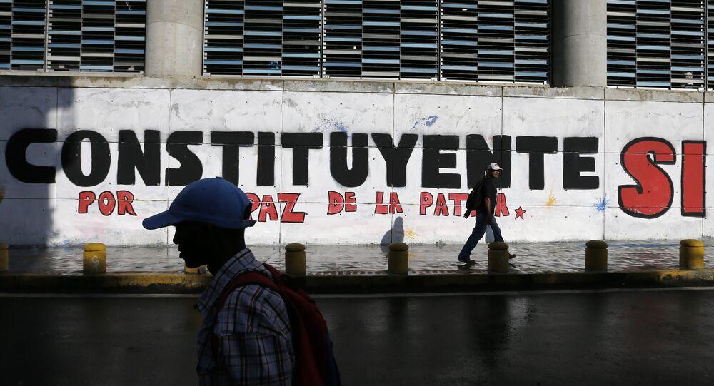 Un graffiti en soutien à l'élection à l'Assemblée constituante