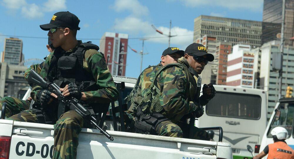 Des militaires vénézuéliens à Caracas