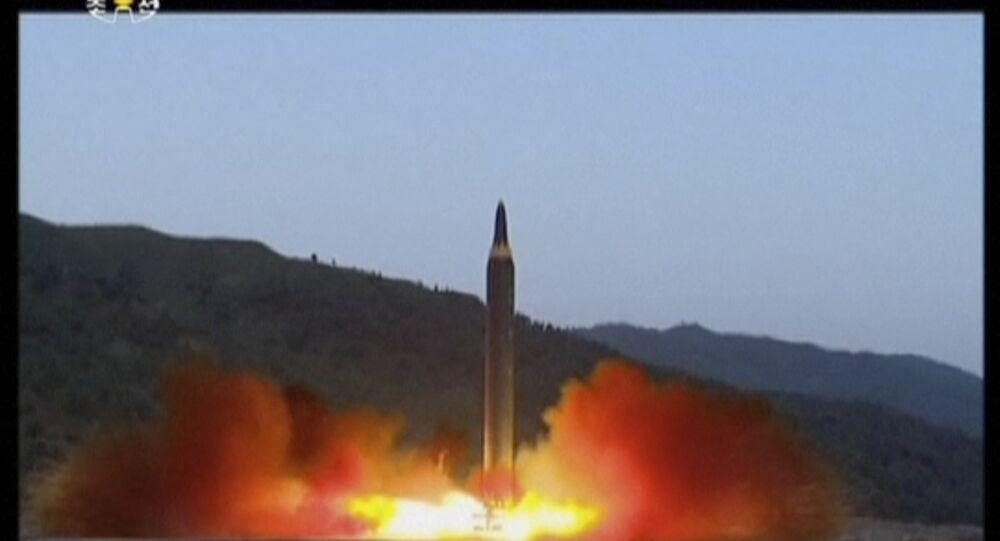 Le tir d'un missile Hwasong-12 en Corée du Nord