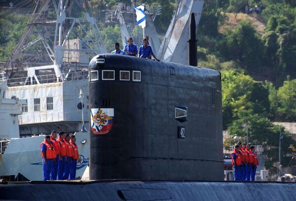 La cérémonie de réception du sous-marin diesel Krasnodar à Sébastopol - Sputnik France