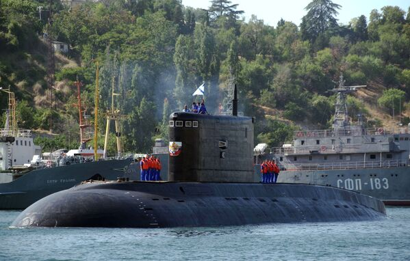 La cérémonie de réception du sous-marin diesel Krasnodar à Sébastopol. - Sputnik France