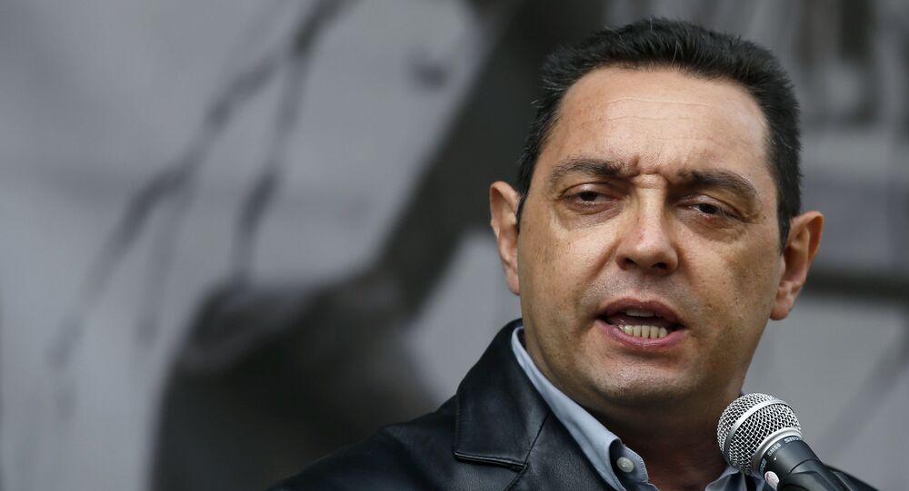 Le ministre serbe de la Défense Aleksandar Vulin