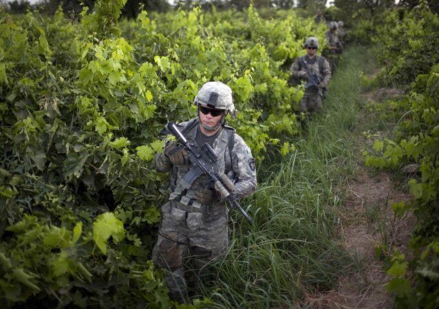 Un militaire américain en Afghanistan