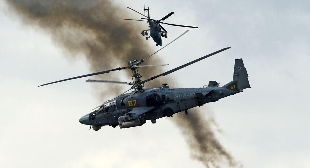 Ka-52  Alligator  attack helicopter  (File)