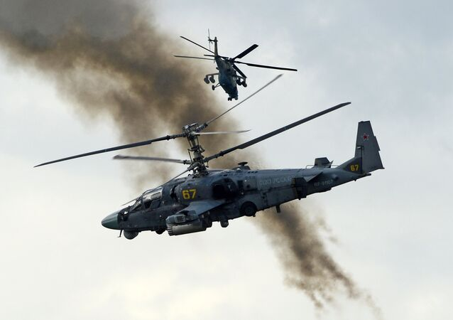 Ka-52  Alligator  attack helicopter  (File)