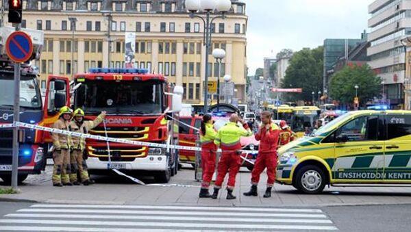 La police de Turku après l'attaque au couteau du 18 août 2017 - Sputnik France