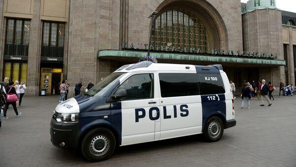 La police en patrouille devant la Gare centrale de Turku après l'attaque au couteau du 18 août 2017 - Sputnik France