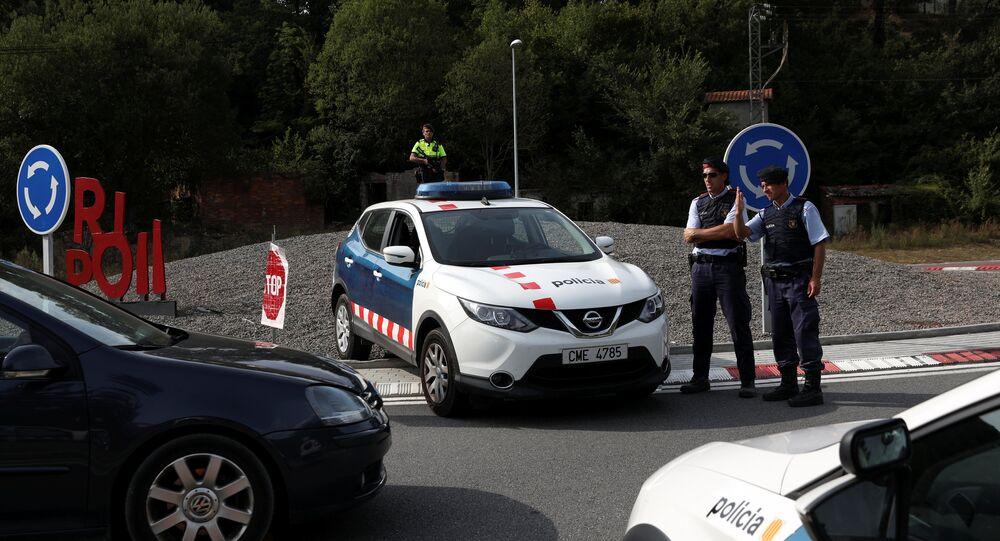 Police en Catalogne. Archive photo