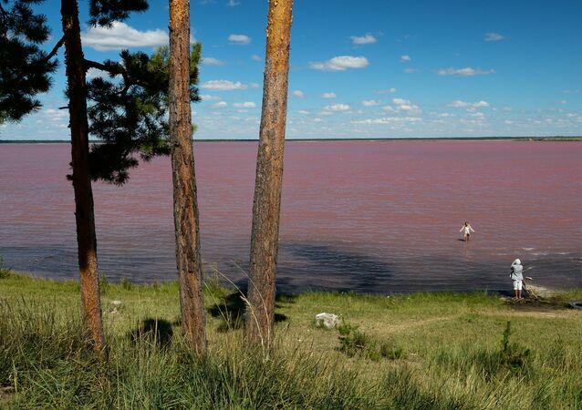 Les lacs salés de l'Altaï