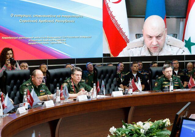 Le général de corps d'armée Sergueï Sourovikine lors du forum Armée-2017