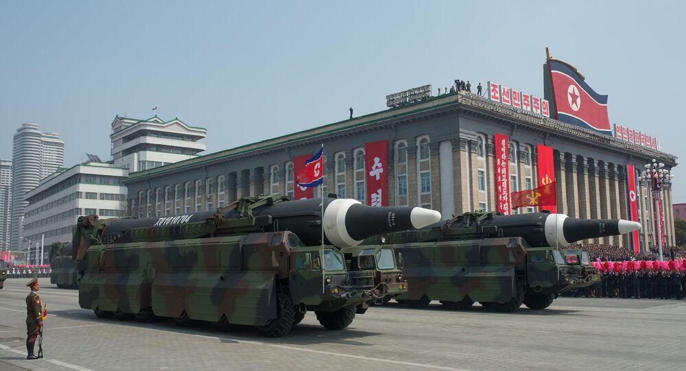 Défilé militaire à Pyongyang, image d'illustration